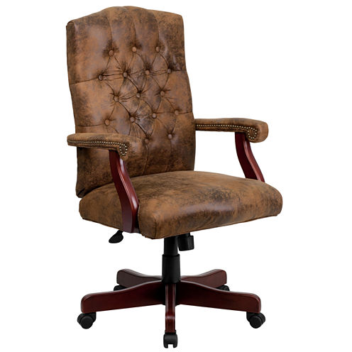 Traditional Upholstered Office Chair