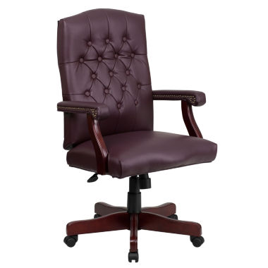 jcpenney.com | Tufted Design Leather Office Chair