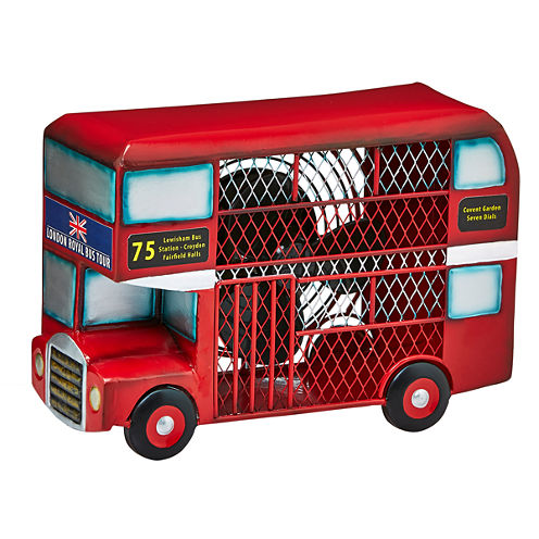 DecoBreeze™ Double-Deck Bus Figurine Fan