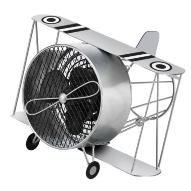jcpenney.com | DecoBreeze™ Silver Biplane Figurine Fan