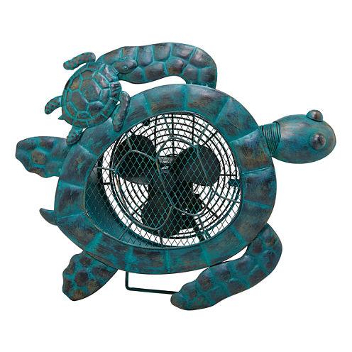 DecoBreeze™ Sea Turtles Figurine Fan