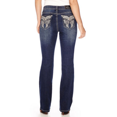 jcpenney.com | Love Indigo Angel Wing Embellished Back Flap Pocket Bootcut Jean