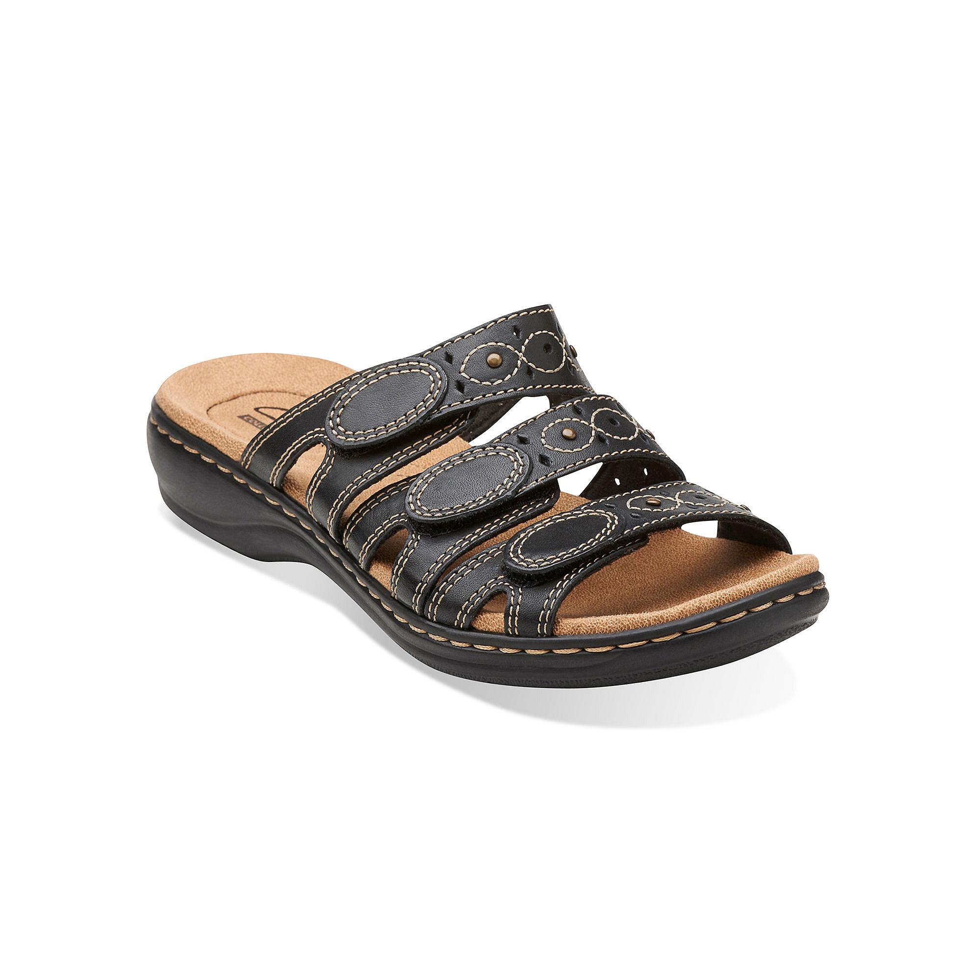Clarks Leisa Cacti Womens Open-Toe Leather Sandals plus size,  plus size fashion plus size appare