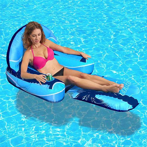 Blue Wave Drift + Escape Inflatable Pool Lounger