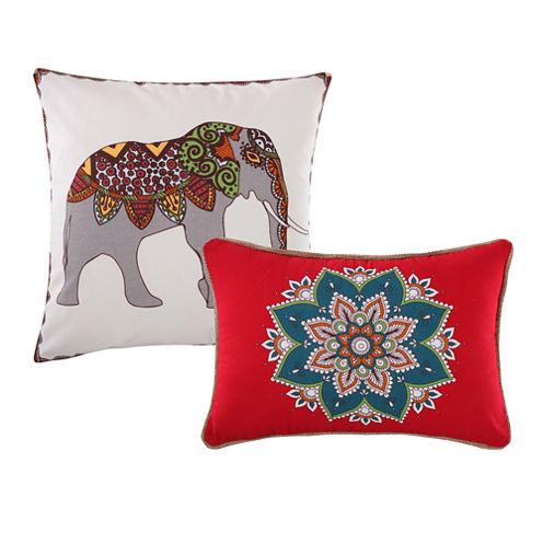 Barefoot Bungalow Kandula Desert 2-Pack Square Throw Pillow