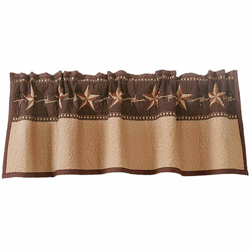 Hiend Accents 56x16 Star Ranch Quilted Valance