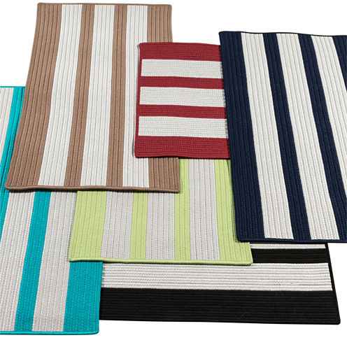 Colonial Mills Cayman Stripe Braided Rectangular Reversible Rugs