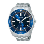 Pulsar® Mens Stainless Steel Watch