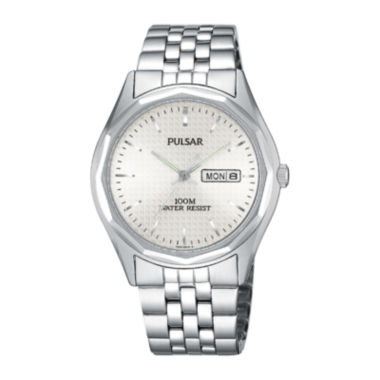 jcpenney.com | Pulsar® Mens Dress Silver-Tone Watch PJ6029