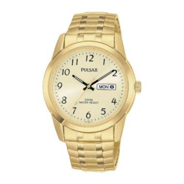jcpenney.com | Pulsar® Mens Gold-Tone Expansion Watch PJ6054