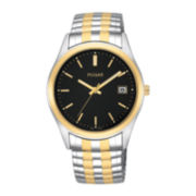 Pulsar® Mens Two-Tone Expansion Watch