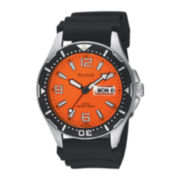 Pulsar® Mens Sport Orange-Dial Watch