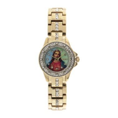 jcpenney.com | Elgin® Womens Jesus Crystal-Accented Watch