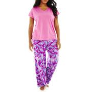 Liz Claiborne Short-Sleeve Sleep Tee or Knit Pants - Plus
