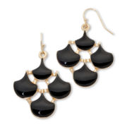 Pannee Black Enamel Earrings