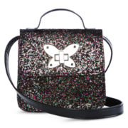 On The Verge Butterfly Lock Crossbody Purse