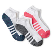 Xersion™ 3-pk. No-Show Socks - Girls