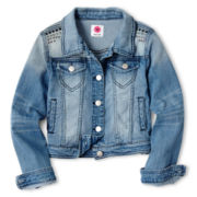 Total Girl® Embellished Denim Jacket - Girls 6-16 and Plus