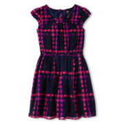 Total Girl® Short-Sleeve Woven Dress - Girls 6-16 and Plus