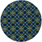 Country Cross Indoor/Outdoor Round Rug