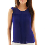 nicole by Nicole Miller® Sleeveless Pintucked Top