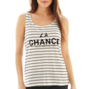 MNG by Mango® Striped Graphic Tank Top