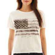 MNG by Mango® Short-Sleeve American Flag Graphic Tee