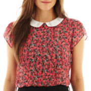 I 'Heart' Ronson® Short-Sleeve Embelished Floral Top