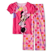 Disney Collection Pink Minnie 2-pc. Pajamas - Girls 2-10
