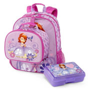 Disney Sofia Backpack and Accessories