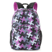 Fuel® Classic Dome Backpack-Black/Grape Puzzle