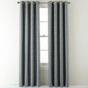 Studio™ Distressed Texture Grommet-Top Lined Blackout Curtain Panel