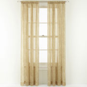 Royal Velvet® Newport Rod-Pocket Sheer Panel