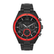 Relic® Caleb Mens Black Stainless Steel Sport Watch ZR15797