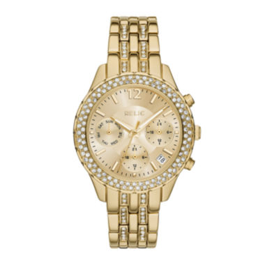 jcpenney.com | Relic® Merrit Womens Crystal-Accent Gold-Tone Bracelet Watch ZR15786