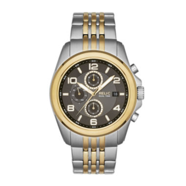 jcpenney.com | Relic® Daley Mens Two-Tone Stainless Steel World-Time Sport Watch ZR15792