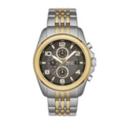 Relic® Daley Mens Two-Tone Stainless Steel World-Time Sport Watch ZR15792