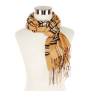 V. Fraas Plaid Cashmink® Scarf