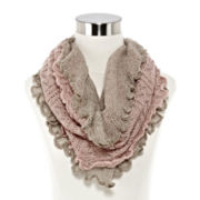 Mixit™ Pointelle Double Cowlneck Scarf