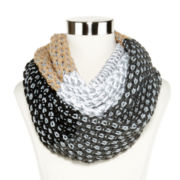 Olsenboye® Colorblock Basketweave Infinity Scarf