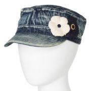 Mixit™ Double Flower Denim Cadet Hat