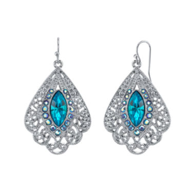 jcpenney.com | 1928® Jewelry Blue Stone Filigree Fan Earrings