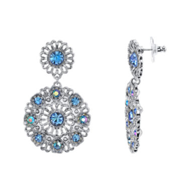 jcpenney.com | 1928® Jewelry Blue Stone Round Drop Earrings