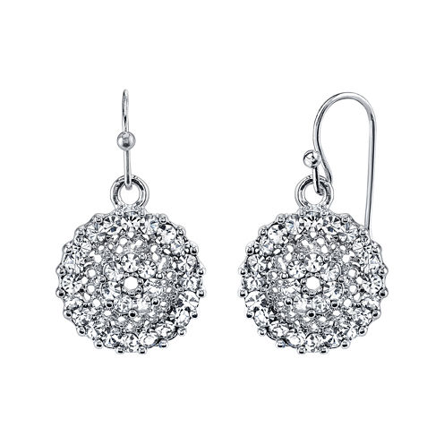 1928® Jewelry Crystal Round Drop Earrings