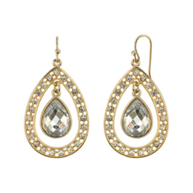 jcpenney.com | 1928® Jewelry Crystal Pear-Shaped Double-Drop Earrings