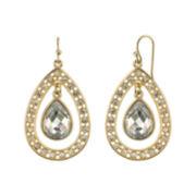 1928® Jewelry Crystal Pear-Shaped Double-Drop Earrings