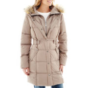 a.n.a® Faux-Fur Trim Hood Puffer Coat