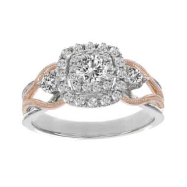 jcpenney.com | Lumastar 7/8 CT. T.W. Diamond 14K Two-Tone Gold Bridal Ring