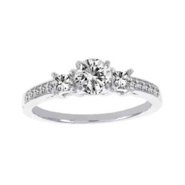jcpenney.com | Lumastar 1 CT. T.W. Diamond 18K White Gold 3-Stone Bridal Ring