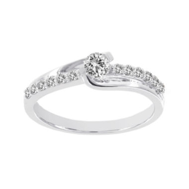 jcpenney.com | Lumastar 1/2 CT. T.W. Diamond 14K White Gold Bridal Ring